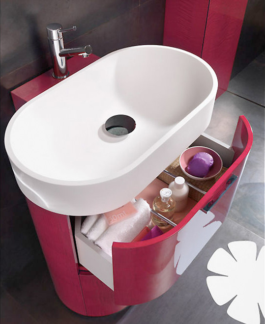 Pink Bathroom Furniture Regia