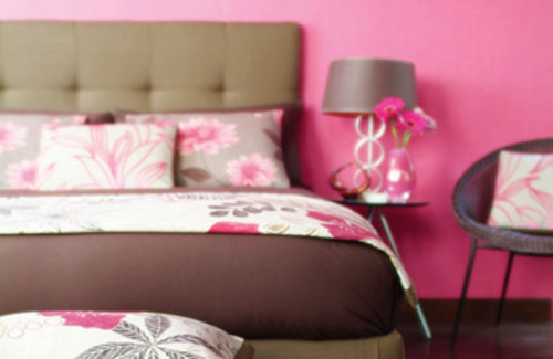 Pink Bedroom With Florals Everywhere