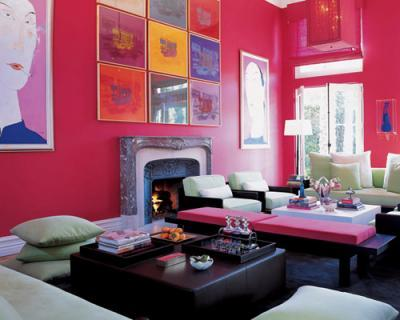 111 bright and colorful living room design ideas digsdigs for Pink living room ideas