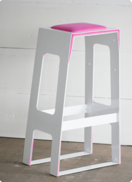 Pink Minimalist Bar Stool For Those Who In Love With Modern Interiors