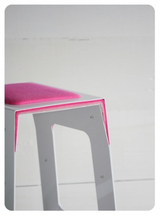 Pink Minimalist Bar Stool
