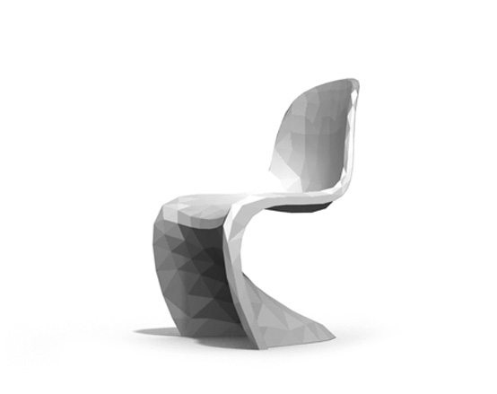 Pixilated Verner Panton Chair