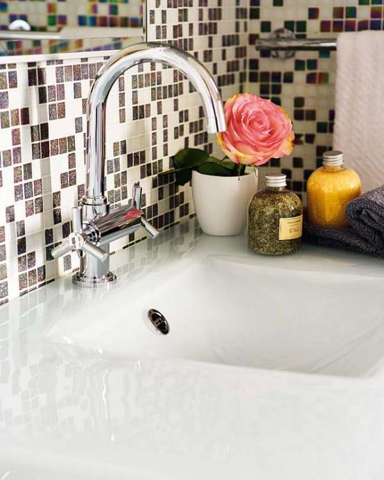 Pixilated Bathroom Design