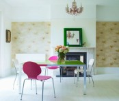 Plain Dining Room With Colorful Accents