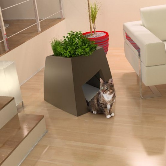 Cool Modern Planters That Doubles As Pet And Bird Houses