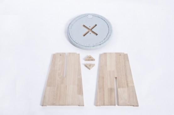 Playful Handmade Button Stools