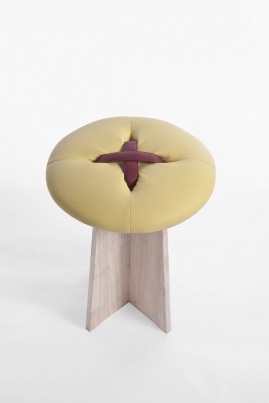 Playful Handmade Button Stools