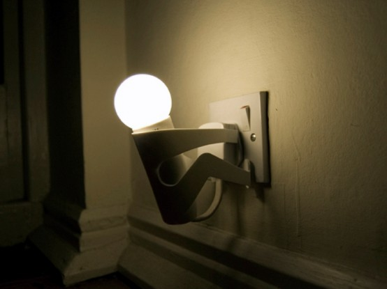 Playful Lamp That Reminds You To Turn Off The Light Digsdigs