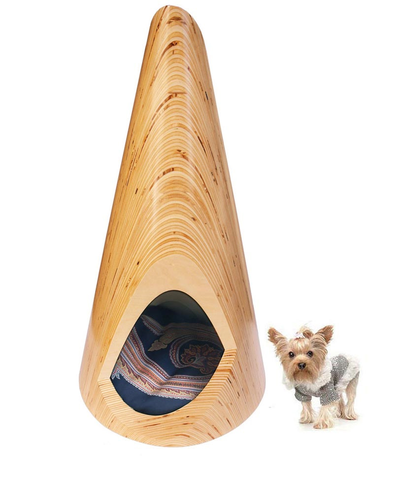 Modern plywood indoor dog lounge pup tent by slade architecture digsdigs - Unique indoor dog houses ...