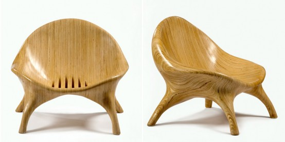 Laminated plywood lounge chair
