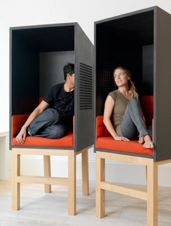 Pod Like Seating For A Private Talk