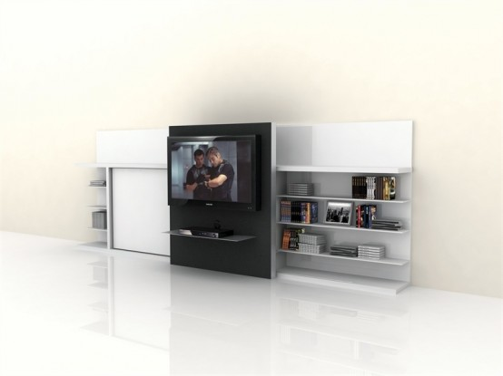 Transformable TV Unit with Bed – Poppi Theatre from Clei