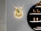 Popup Reindeer Cardboard Light With Shiny Antlers