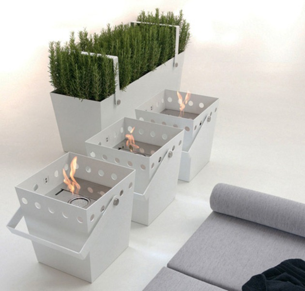 Portable Ethanol Fireplace With An Aroma Diffuser