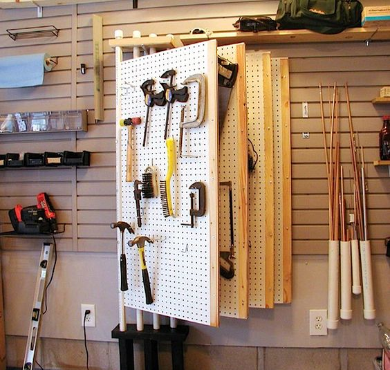 Picture Of practical and comfortable garage organization ideas  17