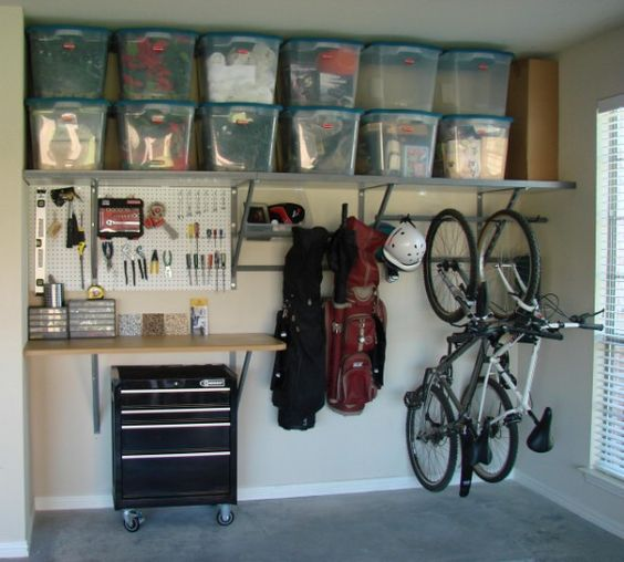 Picture Of practical and comfortable garage organization ideas  2