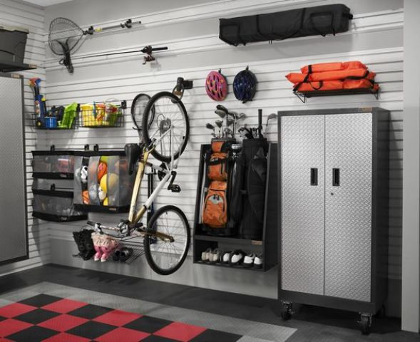 Picture Of practical and comfortable garage organization ideas  20