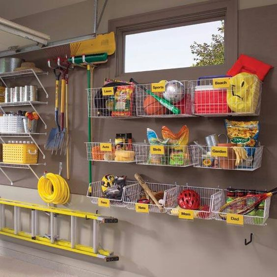 Picture Of practical and comfortable garage organization ideas  21