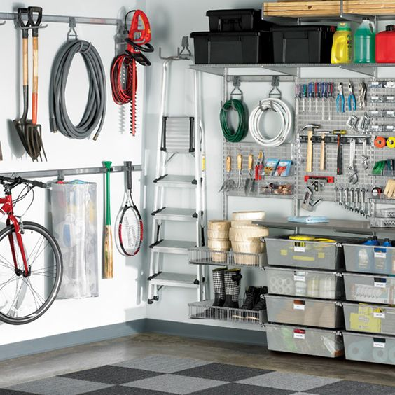 34 practical and comfortable garage organization ideas for Best home office tools