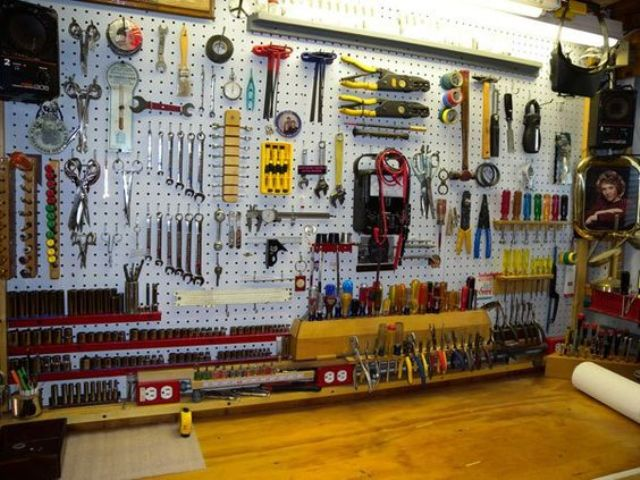 pegboard ideas for garages - 34 Practical And fortable Garage Organization Ideas