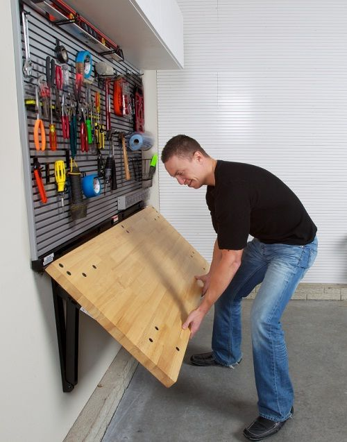 Picture Of practical and comfortable garage organization ideas  4
