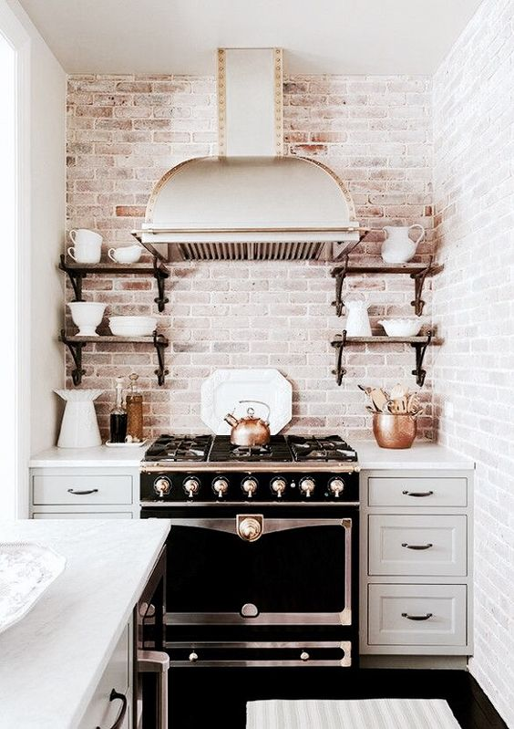 Picture Of practical andstylish brick kitchen backsplashes  10