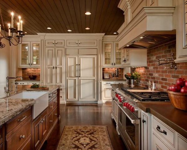 30 Super Practical And Really Stylish Brick Kitchen