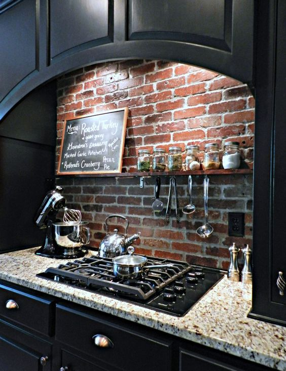Picture Of practical andstylish brick kitchen backsplashes  15