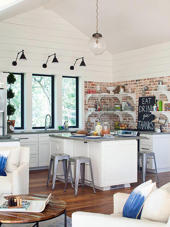 Picture Of practical andstylish brick kitchen backsplashes  24
