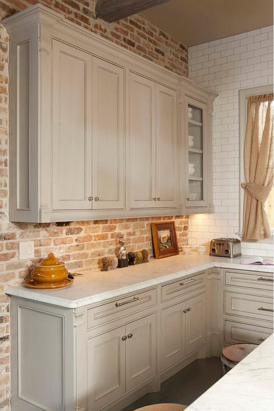 30 Super Practical And Really Stylish Brick Kitchen Backsplashes DigsDigs