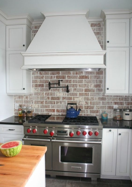 Picture Of practical andstylish brick kitchen backsplashes  9