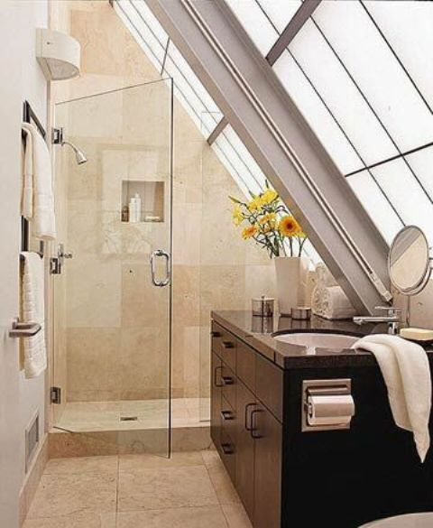 Best 25 Attic Ideas Ideas On Pinterest: 38 Practical Attic Bathroom Design Ideas