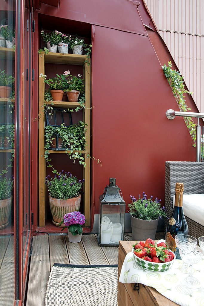 a storage unit built in inside a wall to accommodate lots of stuff or to create a balcony garden