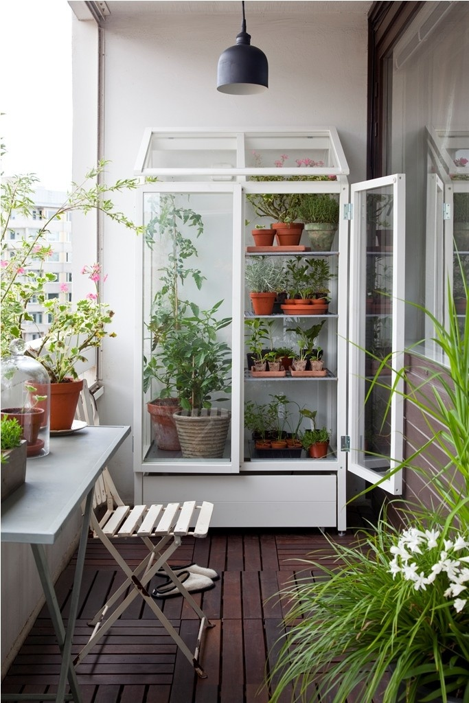 a glass armoire can be used for storing various stuff or to make a garden or green house even