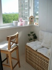 ikea storage bench is perfect for a balcony
