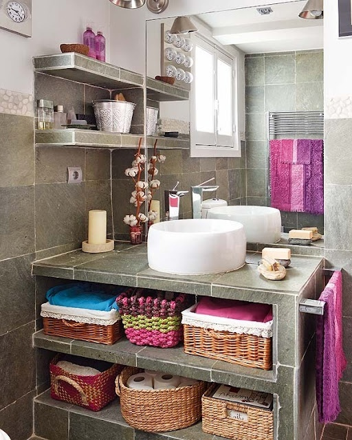 43 Extremely Creative Small Kitchen Design Ideas: 73 Practical Bathroom Storage Ideas