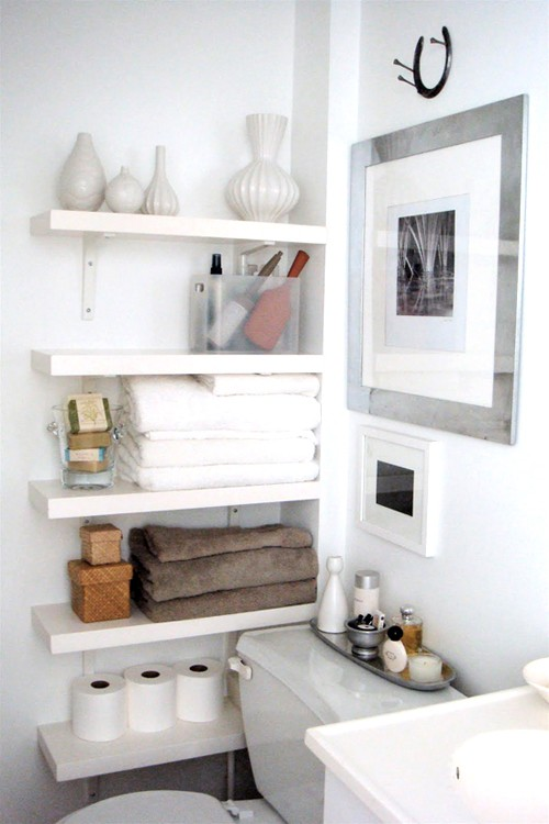 73 practical bathroom storage ideas digsdigs - Bathroom shelving ideas for small spaces photos ...