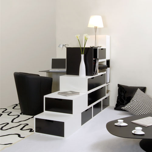 practical furniture for black and white interior design by. Black Bedroom Furniture Sets. Home Design Ideas