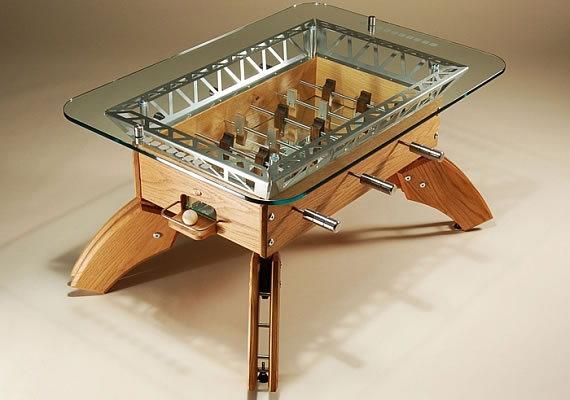 dining and coffee tables with built in games practical