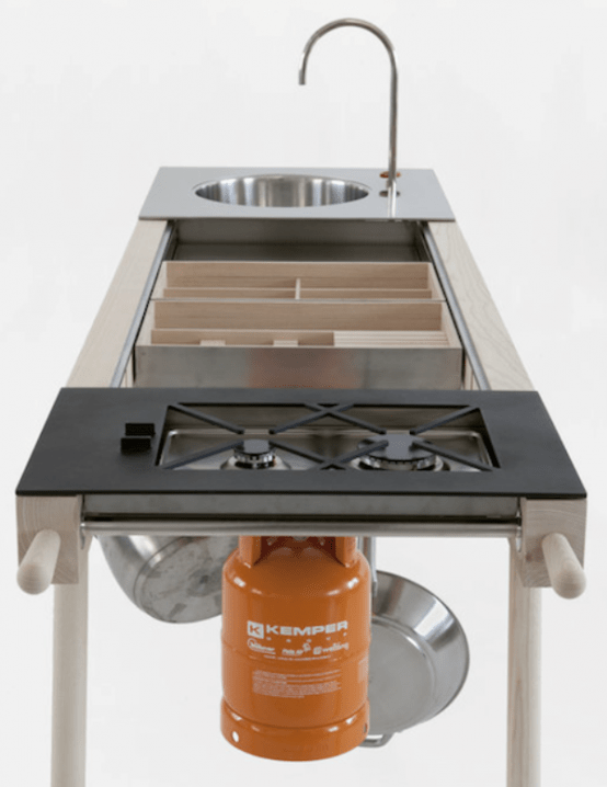 Practical Mobile Kitchen That May Be Taken Outdoors