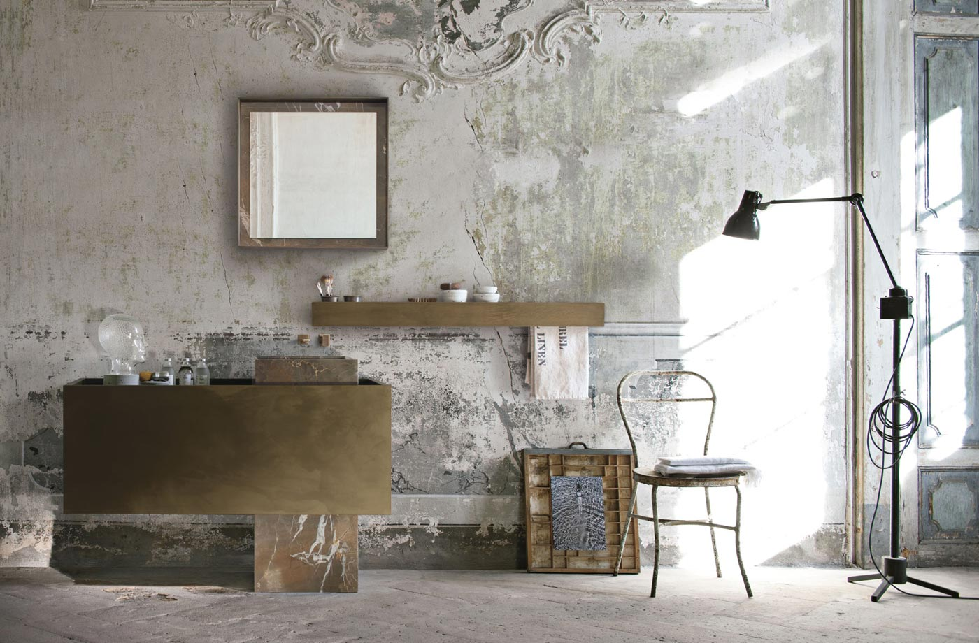 Precious and unique must bathroom furniture collection - Meuble salle de bain style industriel ...