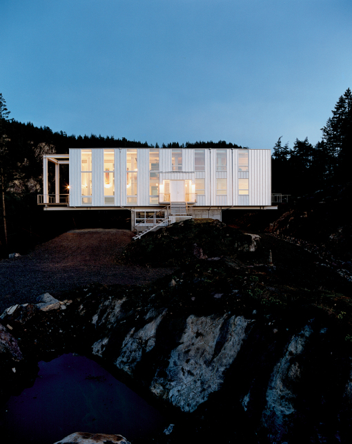 Prefab House on the Hill in Remote Location