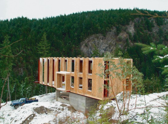 Prefab House In Remote Location Construction