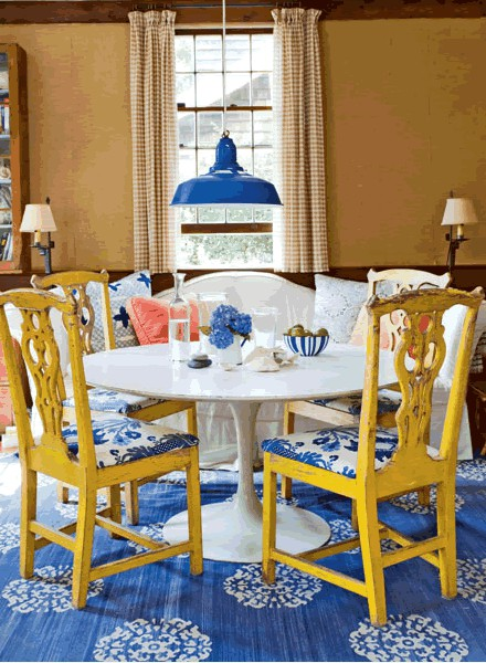 Pretty Colorful Dining Room