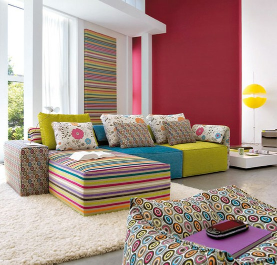 Pretty Colorful Living Room
