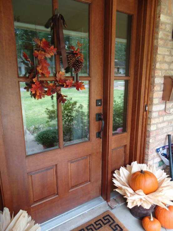Faux leaves are perfect to make fall arrangements and wreathes.