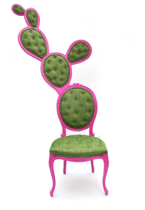 Nopal Cactus-Inspired French Oval Chairs – Prickly Pair Chairs