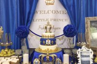 prince-themed boy baby shower
