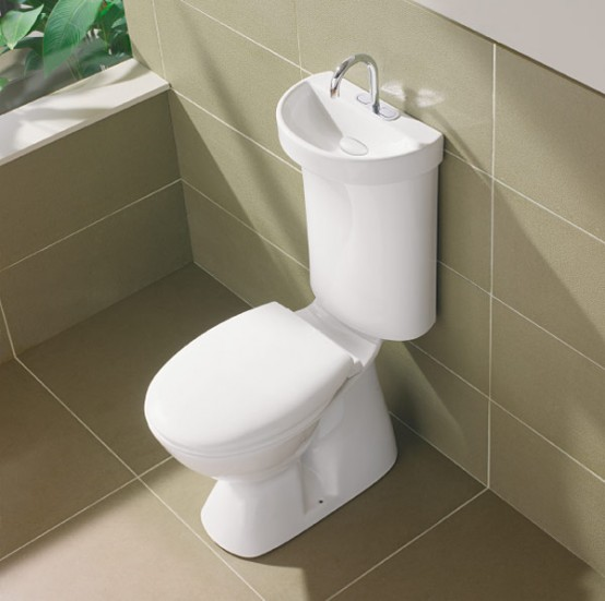 Toilet With Integrated Hand Basin