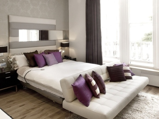 Purple accents in bedrooms 51 stylish ideas digsdigs - Modern purple bedroom colors ...